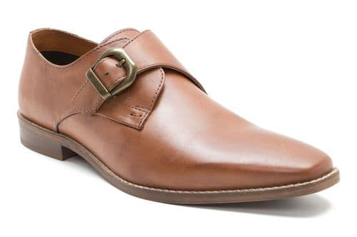 Red Tape Sutton Size buckle Tan Monk Shoes